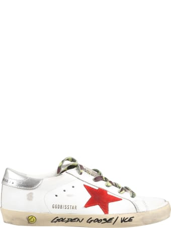 Golden Goose White ''super Star'' Sneakers For Boy