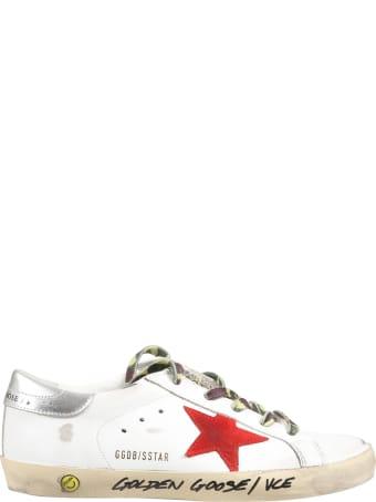 Golden Goose White ''super Star'' Sneakers For Boy
