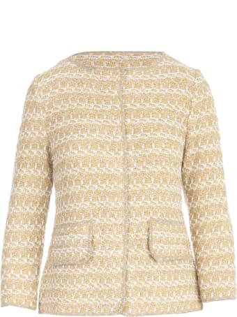 Anneclaire Lurex L/s Chanel Jacket