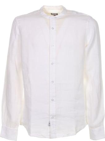 Blauer Shir In White Linent