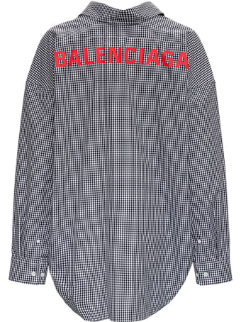 Balenciaga Vichy Cotton Poplin Shirt With Logo