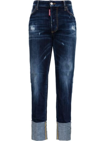 Dsquared2 Straight Jeans With Ripped Details