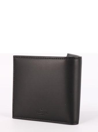Valentino Garavani Black Leather Vltn Wallet