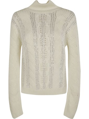 Ermanno Scervino High-neck Patterned Woven Sweater