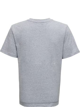Evisu Grey Cotton T-shirt With Logo Print