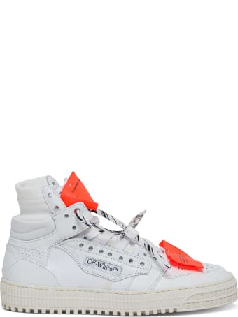 Off-White 3.0 Off Court Leather And Canvas Sneakers