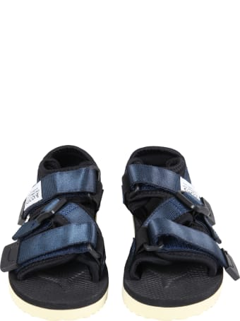"""SUICOKE Blue """"kisee """" Sandals For Kids With Logo"""
