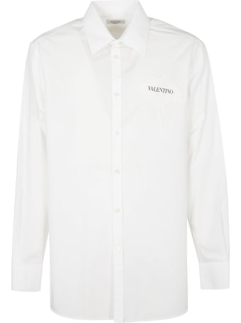 Valentino Rose Logo Patched Shirt