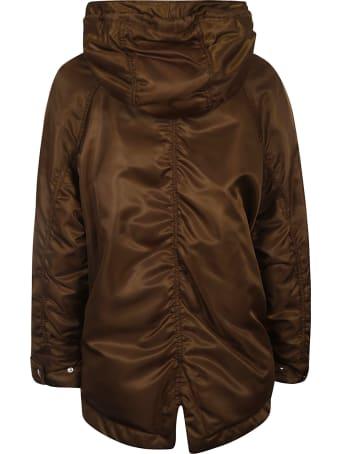 Ermanno Scervino Large Hood Buttoned Jacket