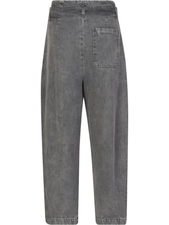 WANDERING High Waist Cropped Jeans