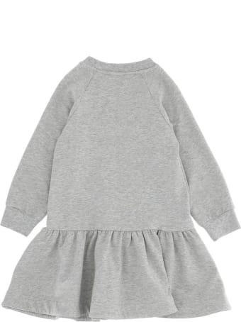 Monnalisa Dress With Long Sleeves And Front Logo