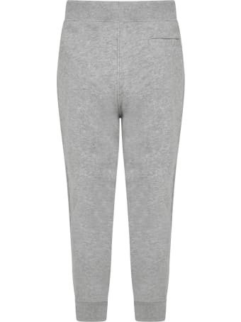 Ralph Lauren Grey Sweatpant For Kids With Pony Logo