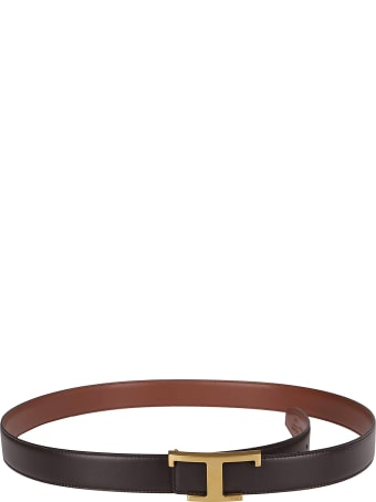 Tod's Black And Brown Leather Belt