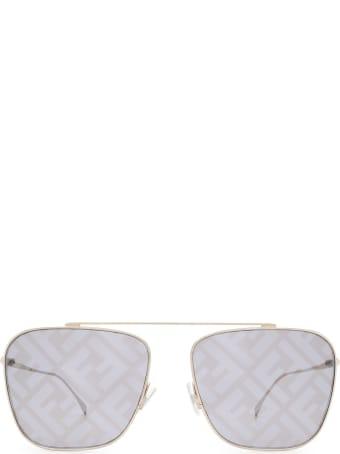 Fendi Fendi Ff 0406/s Silver Sunglasses
