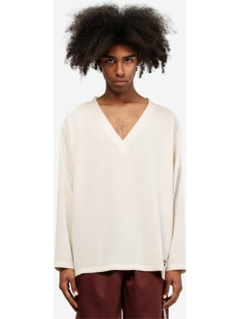South2 West8 Side Slit V Neck Longsleeve
