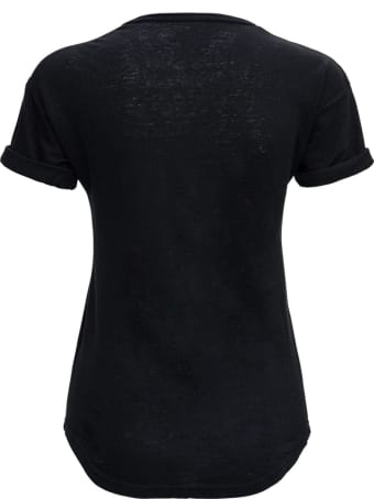 Isabel Marant Étoile Black Linen T-shirt With Logo