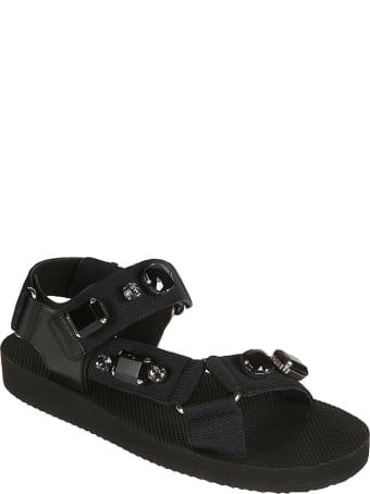 Car Shoe Crystal Embellished Flat Sandals