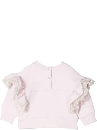 Monnalisa Newborn Pink Sweatshirt