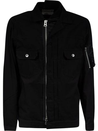 Sacai Double Chest Pocket Detail Zipped Jacket