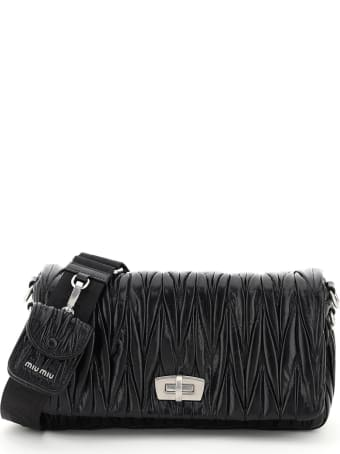 Miu Miu Quilted Shoulder Bag With Pouch