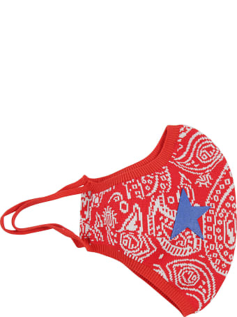 Golden Goose Paisley Knitted Face Mask