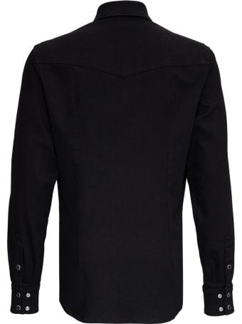 Dolce & Gabbana Black Cotton Shirt With Logo