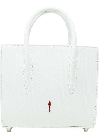 Christian Louboutin White Snake Leather Paloma S Mini