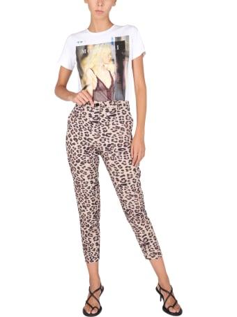 Anna Molinari Pants With Animal Motif