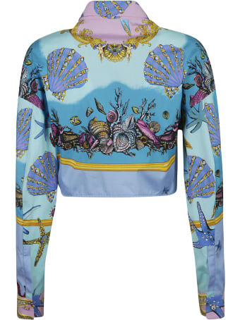 Versace Cropped Length Printed Shirt
