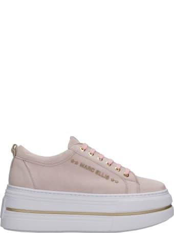 Marc Ellis Sneakers In Rose-pink Suede