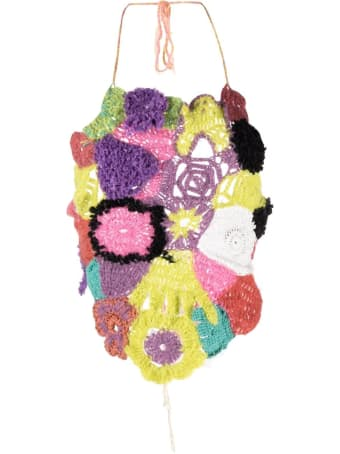 Marco Rambaldi Multicolour Floral Knitted Tie Back Top