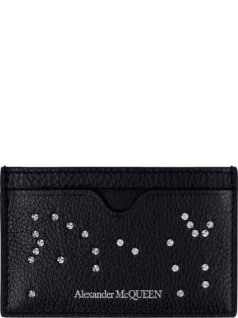 Alexander McQueen Logo Detail Leather Card Holder