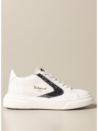 Valsport Sneakers Tournament Up Valsport Sneakers In Leather With Glitter Detail