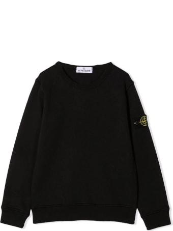 Stone Island Black Cotton Sweater
