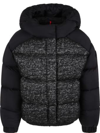 Moncler Black ''hanife'' Jacket For Girl