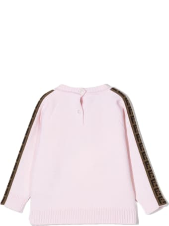 Fendi Pink Virgin Wool Sweater