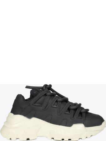 Gienchi Black Leather Ozzy Sneaker