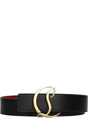 Christian Louboutin Belts In Black Leather