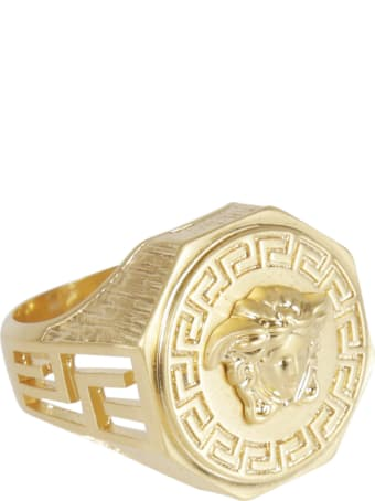 Versace Embossed Medusa Head Ring