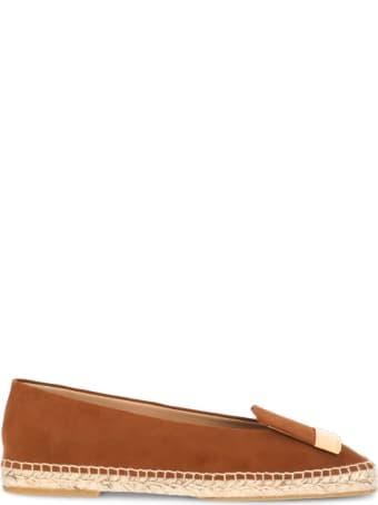 Sergio Rossi Leather Espadrille