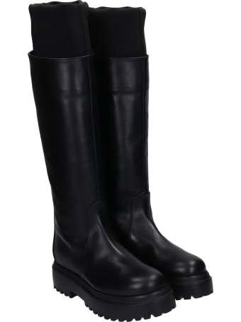 Le Silla Boots In Black Leather