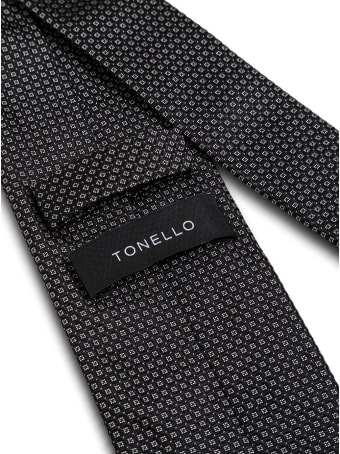 Tonello Blue Silk Necktie