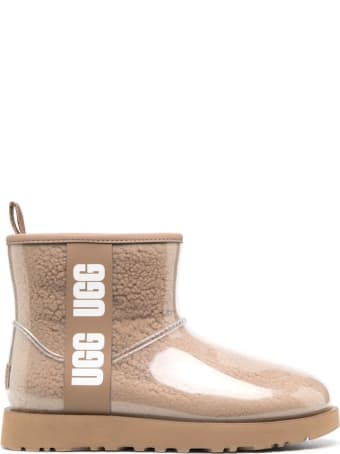 UGG Classic Boots In Beige Pvc With Logo