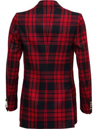 Tonello Double-breasted  Check Wool  Blazer