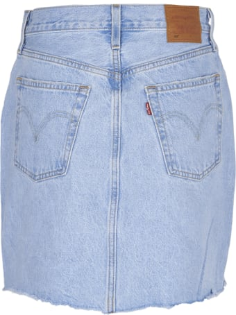 Levi's Frayed Short Skirt