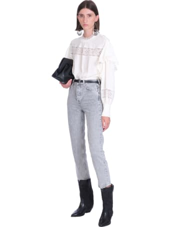 IRO Claw Blouse In White Polyester