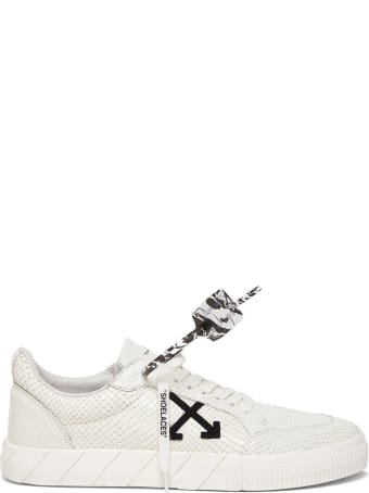 Off-White Low Vulcanized Sneakers In White Leather