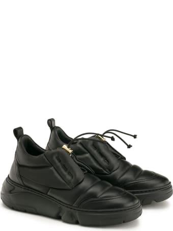 Attilio Giusti Leombruni Agl D938012pg Black Leather Venus Sneakers