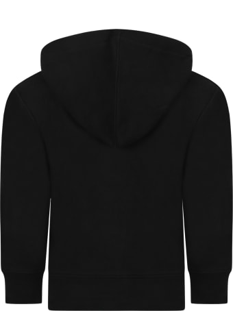 Ralph Lauren Black Sweatshirt For Kids With Pony Logo