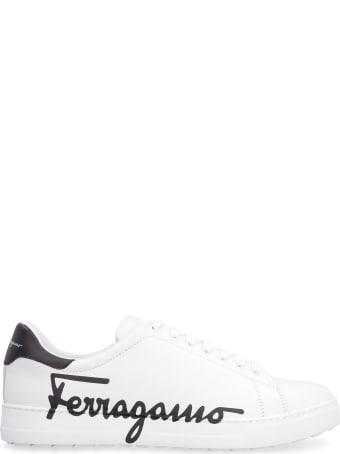 Salvatore Ferragamo Leather Low-top Sneakers